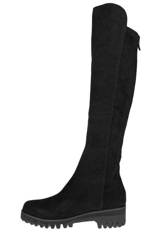Donna Carolina Overknee-Stiefel »MIT PROFILSOHLE« in schwarz