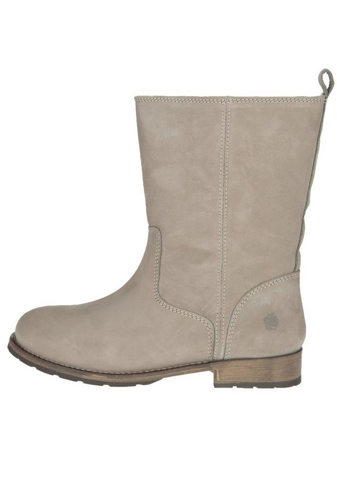 Apple of Eden Lederbootie »MARIE« in taupe