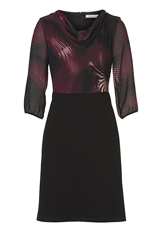 Betty Barclay Kleid in Black/Purple - Bunt