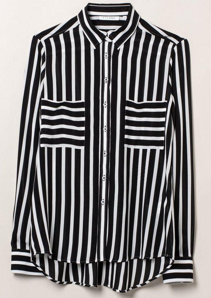 ETERNA 1/1-Arm Bluse »COMFORT FIT« in graphit/weiß