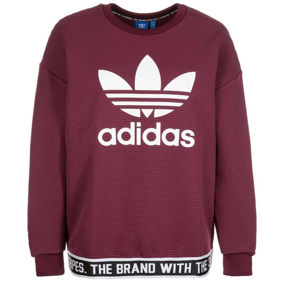 adidas Originals Trefoil Sweatshirt Damen in weinrot / weiß
