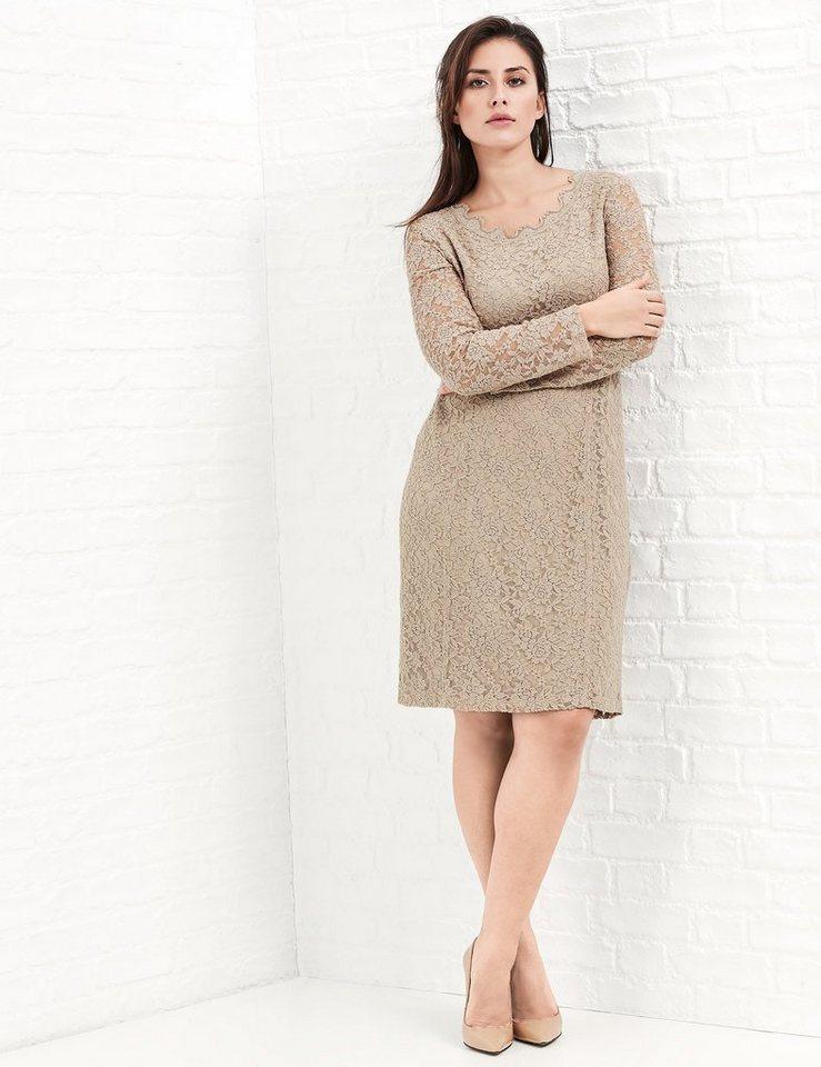 Samoon Kleid Gewirke »Elastisches Spitzenkleid« in Soft Brush