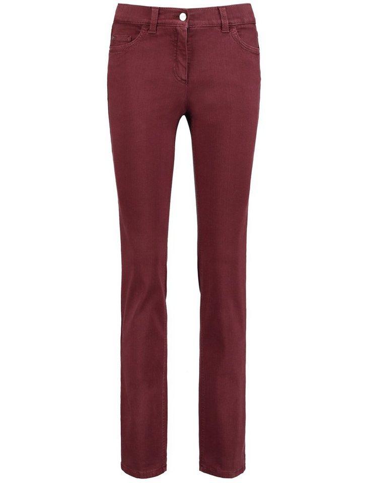 Gerry Weber Hose Jeans lang »5-Pocket Hose Romy« in Dunkelrot