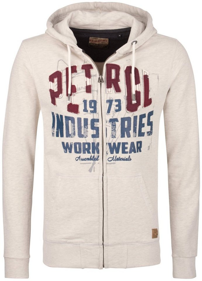 Petrol Industries Sweatjacke in antique white m