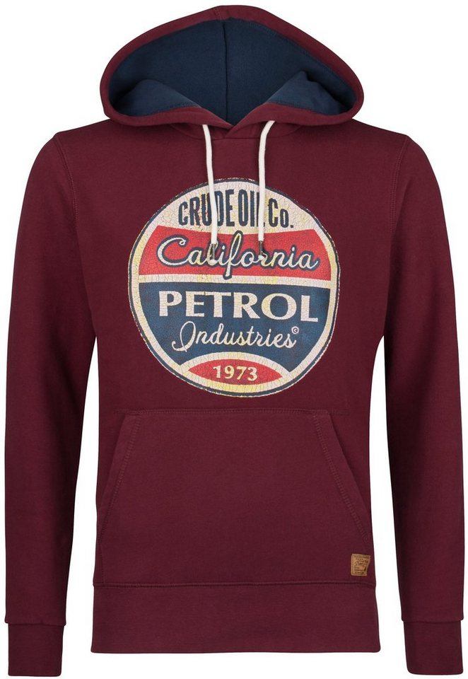 Petrol Industries Kapuzensweatshirt in light burgundy