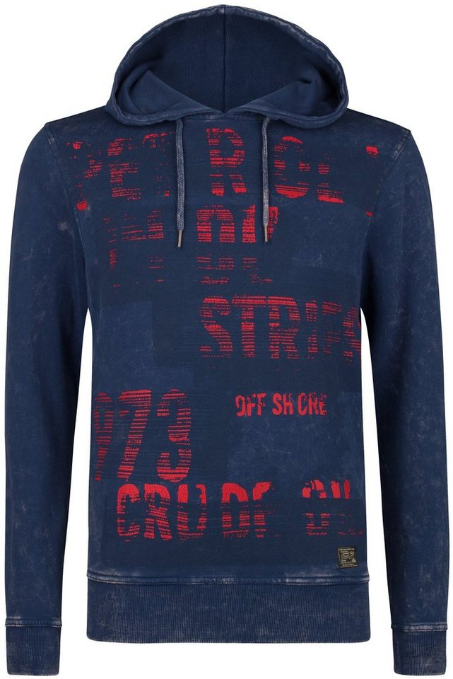 Petrol Industries Kapuzensweatshirt in petrol blue