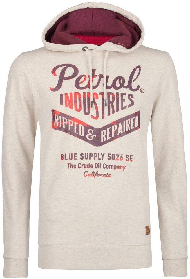 Petrol Industries Kapuzensweatshirt in antique white m