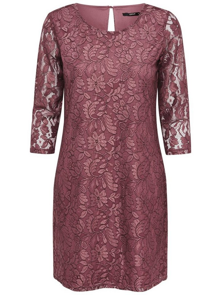 Only Spitzen- Kleid in Withered Rose