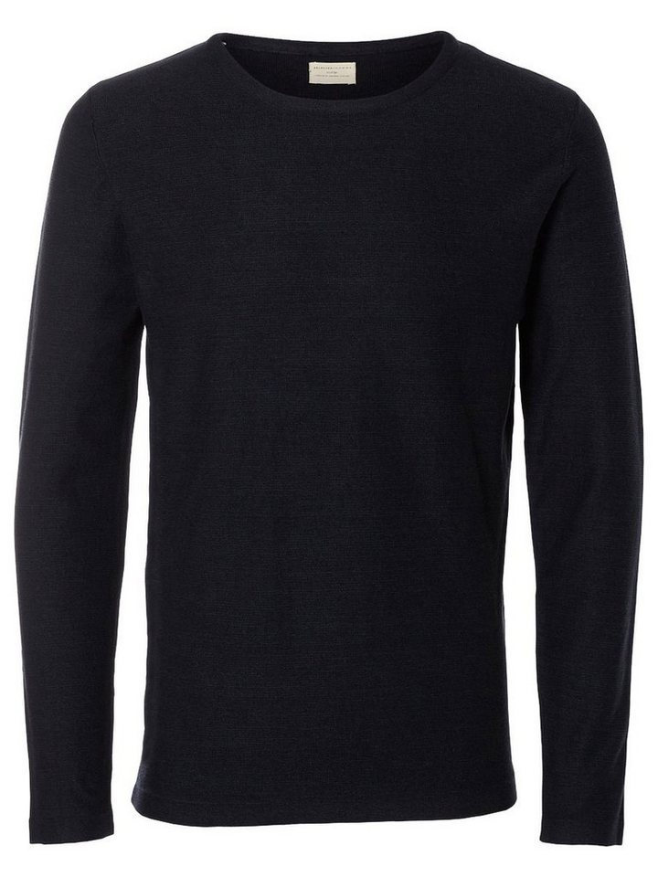 Selected Crew-Neck- Strickpullover in Dark Sapphire