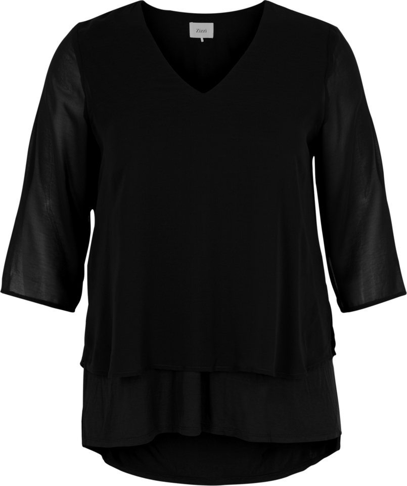 Zizzi Bluse in Black