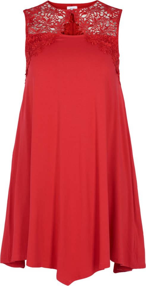 Zizzi Kleid in Tango Red