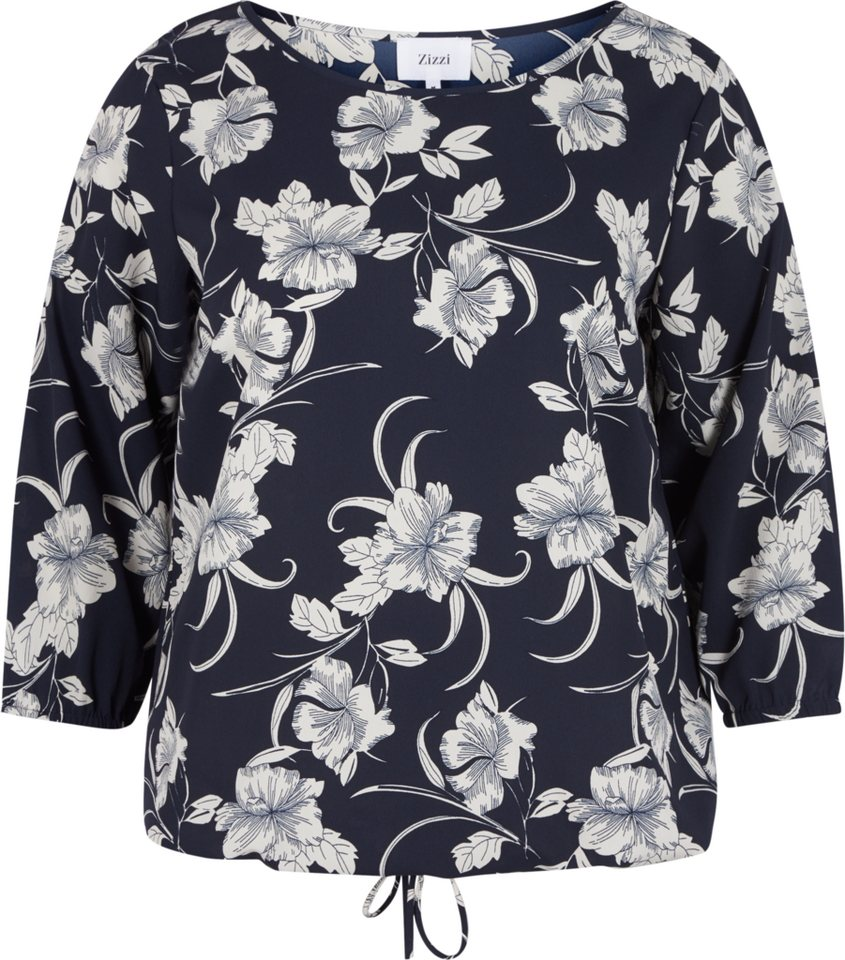 Zizzi Bluse in Night Sky w/Van Ice