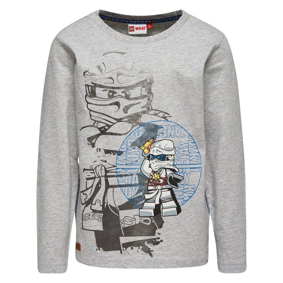 "LEGO Wear Ninjago Langarm-T-Shirt Teo ""Cole"" langarm Shirt in grau"