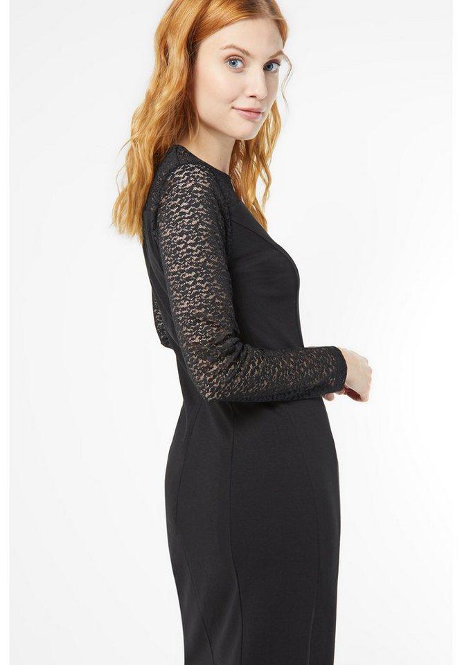 Street One Jerseykleid mit Spitze Kylie in black