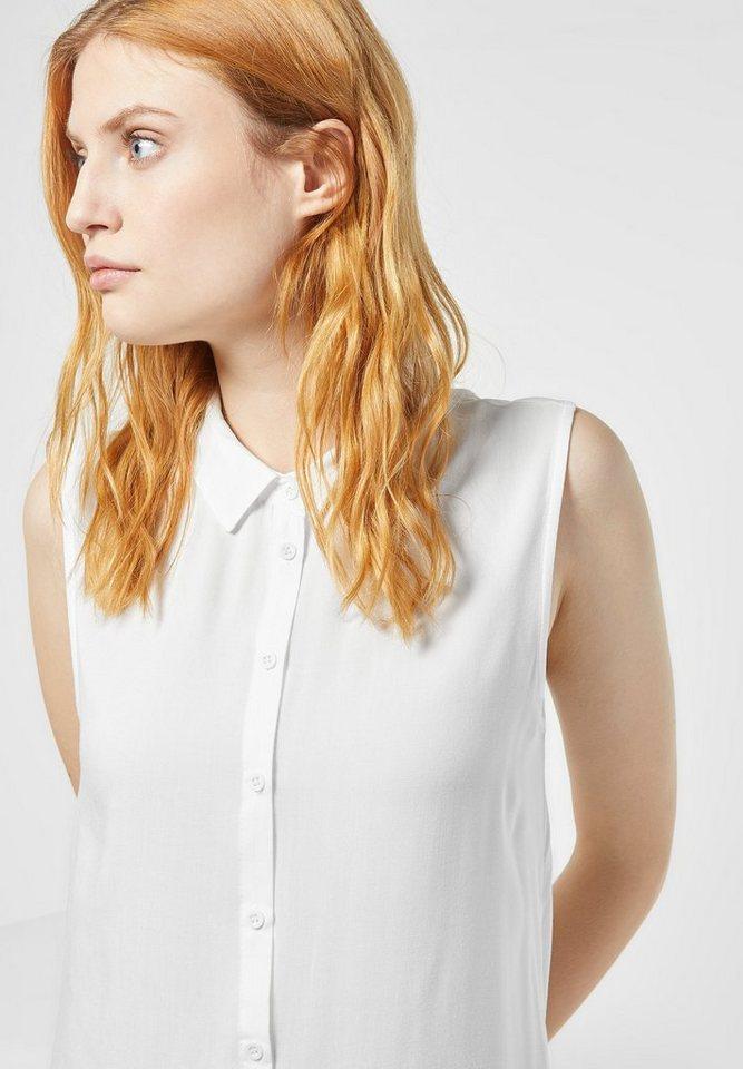 Street One Longshirt mit Kragen Julika in off white