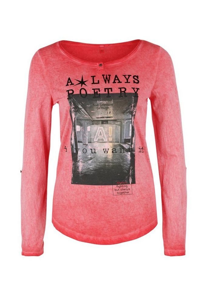 Q/S designed by Longsleeve in Cold Pigment Dye in candy placed print