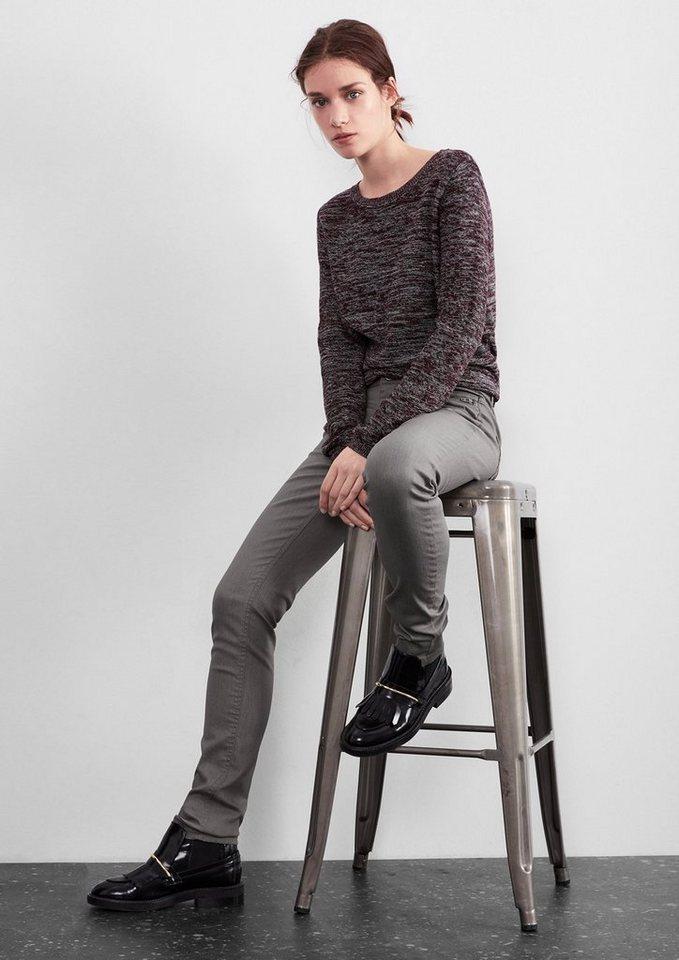 Q/S designed by Superslim: Jeans mit Glanz-Effekt in medium grey