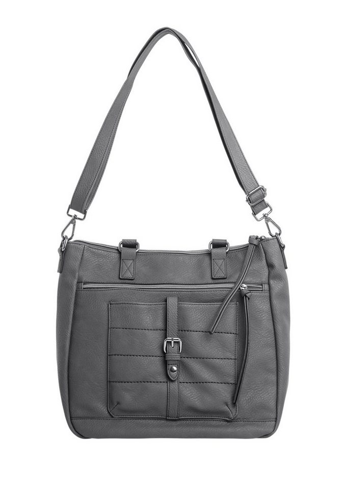 s.Oliver RED LABEL Shopper mit Applikationen in gull grey