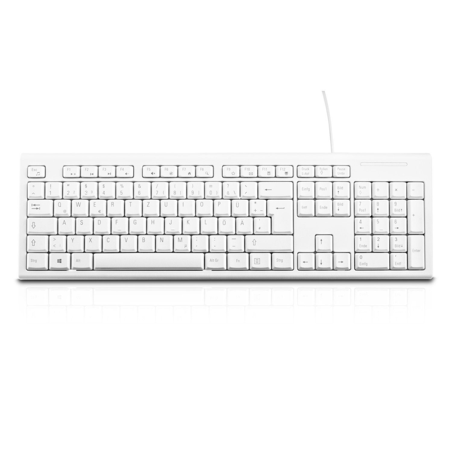 V7 Tastatur »KEYBOARD DESKTOP USB WHITE GER«
