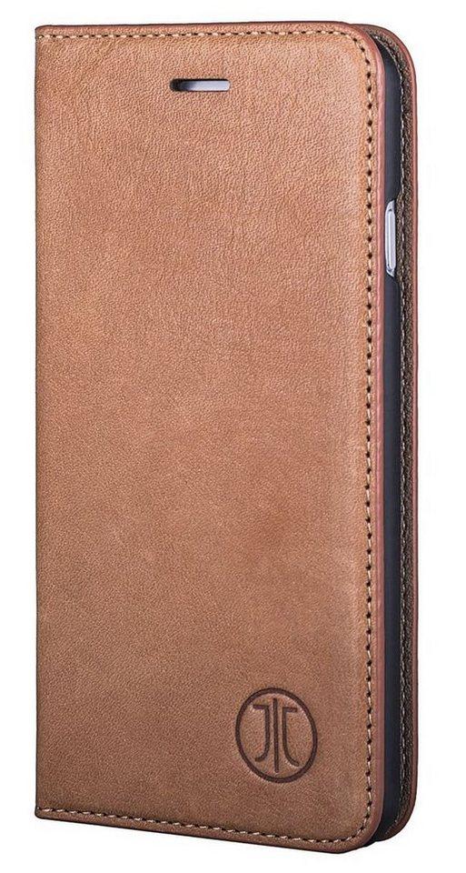JT Berlin Handytasche »Leather Book Magic für Apple iPhone 7« in Cognac
