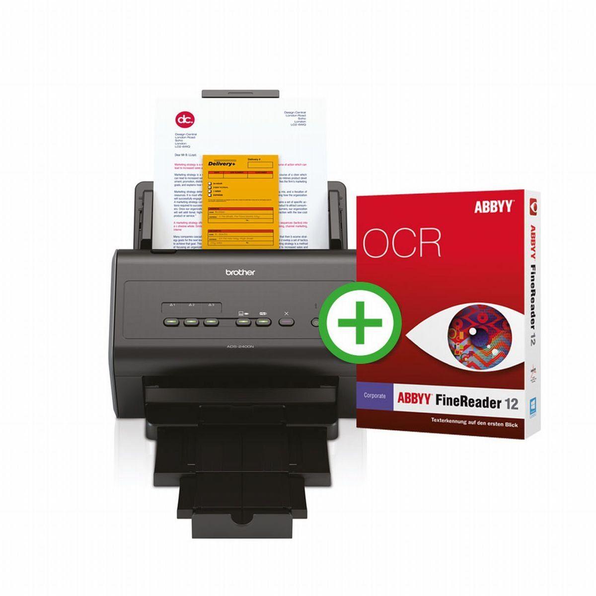 Brother Dokumentenscanner »Dokumentenscanner ADS-2400N inkl. FineReader«