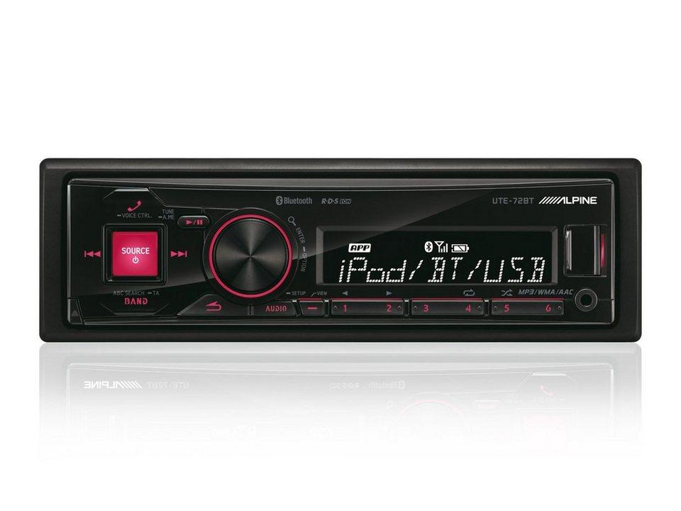 ALPINE Digital Media Receiver mit Bluetooth »UTE-72BT« in schwarz