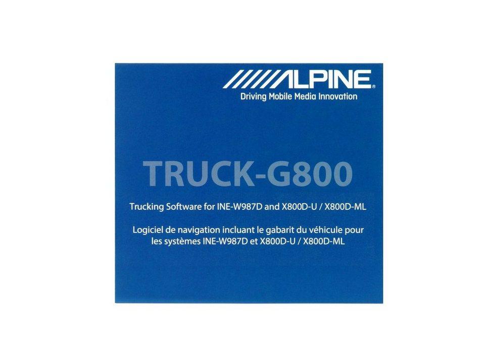 ALPINE Navigationssoftware »TRUCK-G800« in blau