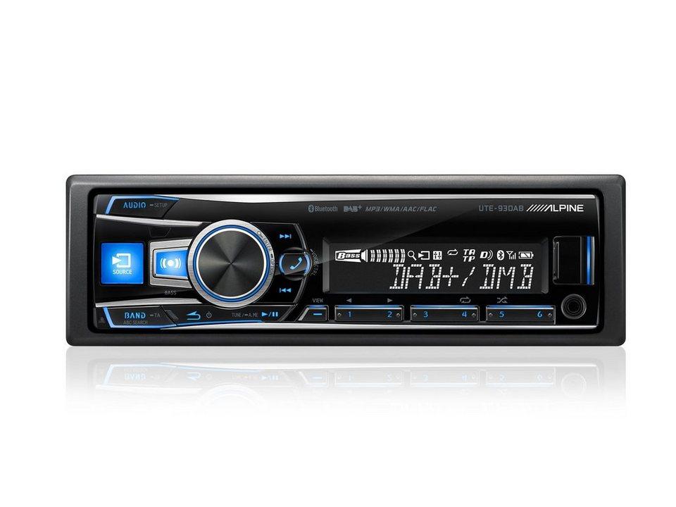 ALPINE Digital Media Receiver mit Bluetooth »UTE-93DAB« in schwarz