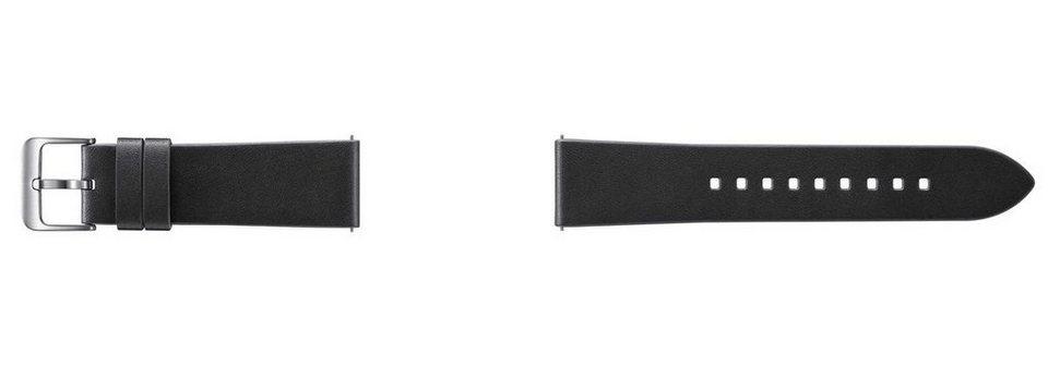 Samsung Ersatz-/Wechselarmband »Standard Leder-Armband für Gear S3, 22mm« in Schwarz