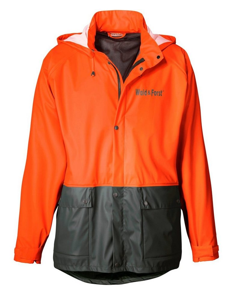 Wald & Forst Signal-Regenjacke in Orange/Grün