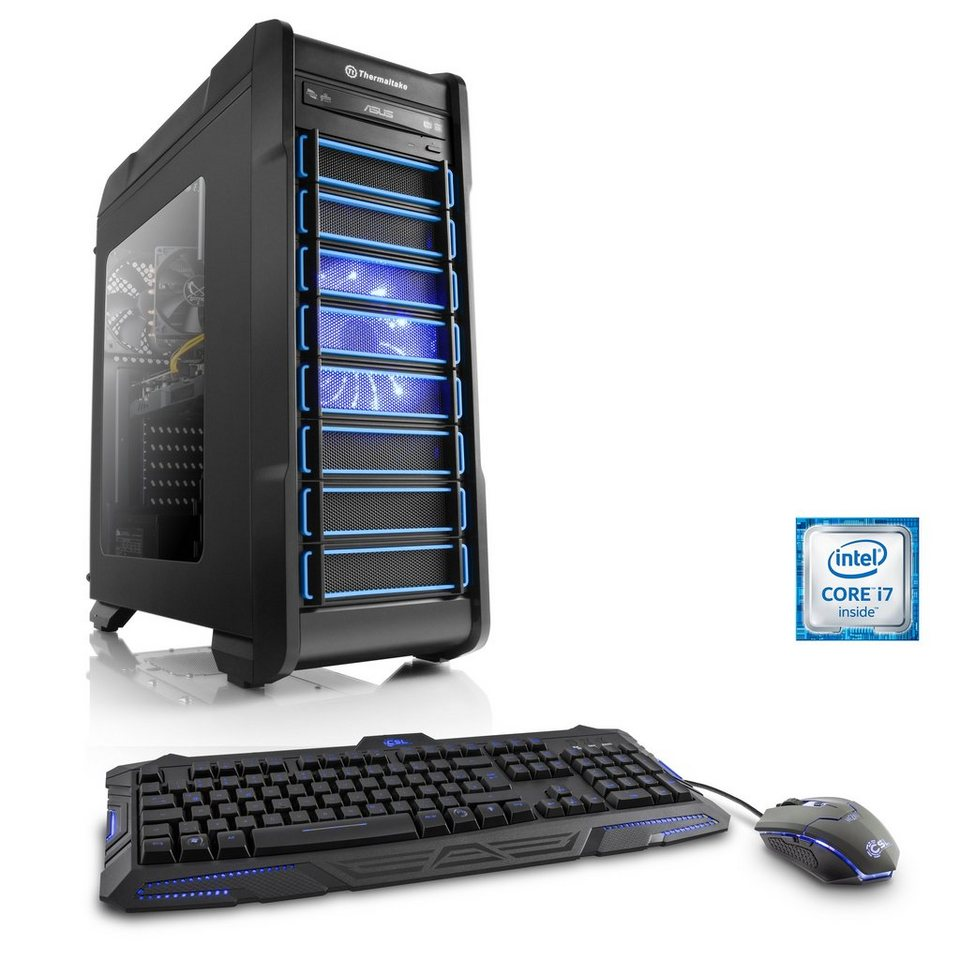 CSL Gaming PC i7-6700 | GeForce GTX 1060 | 16 GB DDR4 | 240 GB SSD »Levitas T7760 Windows 10«