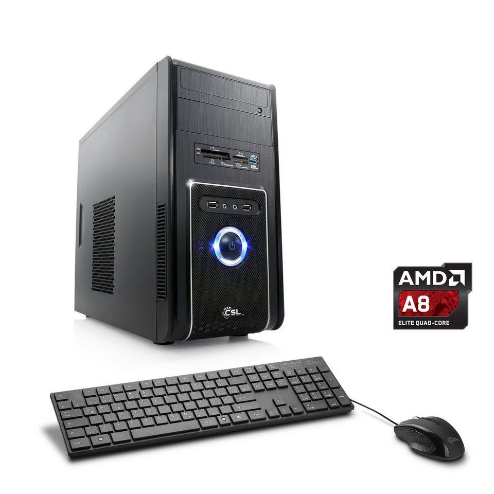 CSL Multimedia PC | AMD A8-7650K | Radeon R7 | 8 GB RAM | WLAN »Sprint T4823 Windows 10 Home« in schwarz