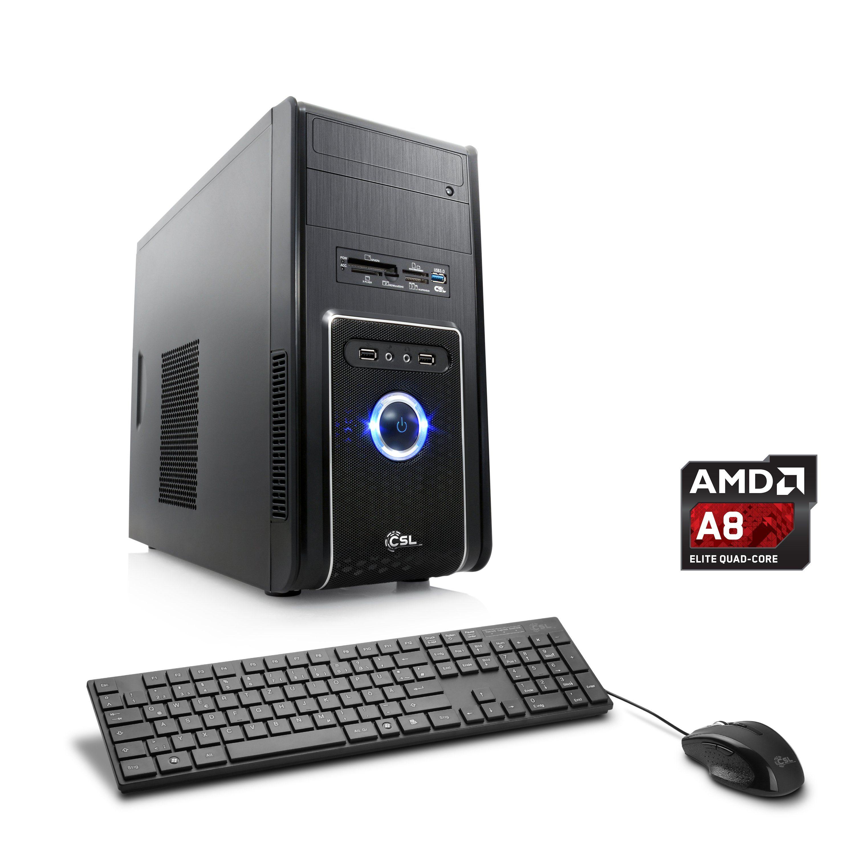 CSL Multimedia PC | AMD A8-7650K | Radeon R7 | 8 GB RAM | WLAN »Sprint T4823 Windows 10 Home«
