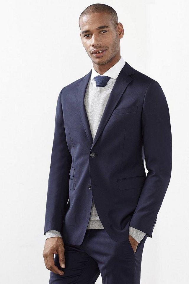 ESPRIT COLLECTION Elegantes Premium Sakko aus reiner Wolle in NAVY