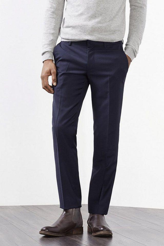 ESPRIT COLLECTION Elegante Anzughose aus reiner Wolle in NAVY