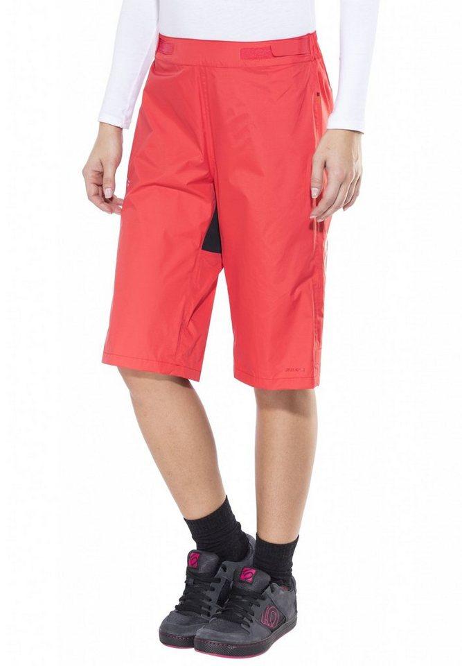 VAUDE Radhose »Tremalzo Rain Shorts Women« in rot