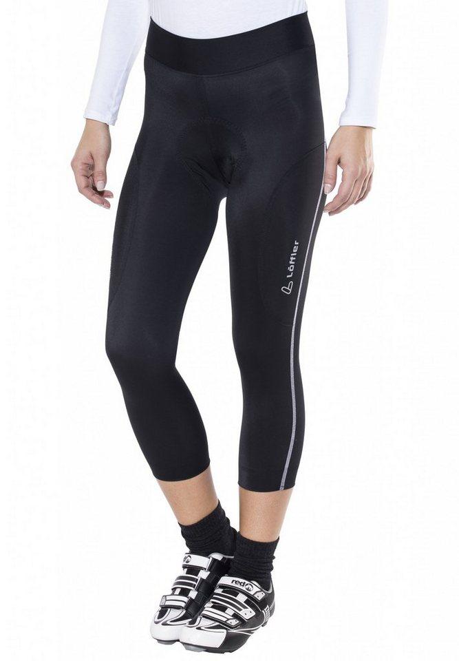 Löffler Radhose »Hotbond 3/4 Bike Hose Damen« in schwarz