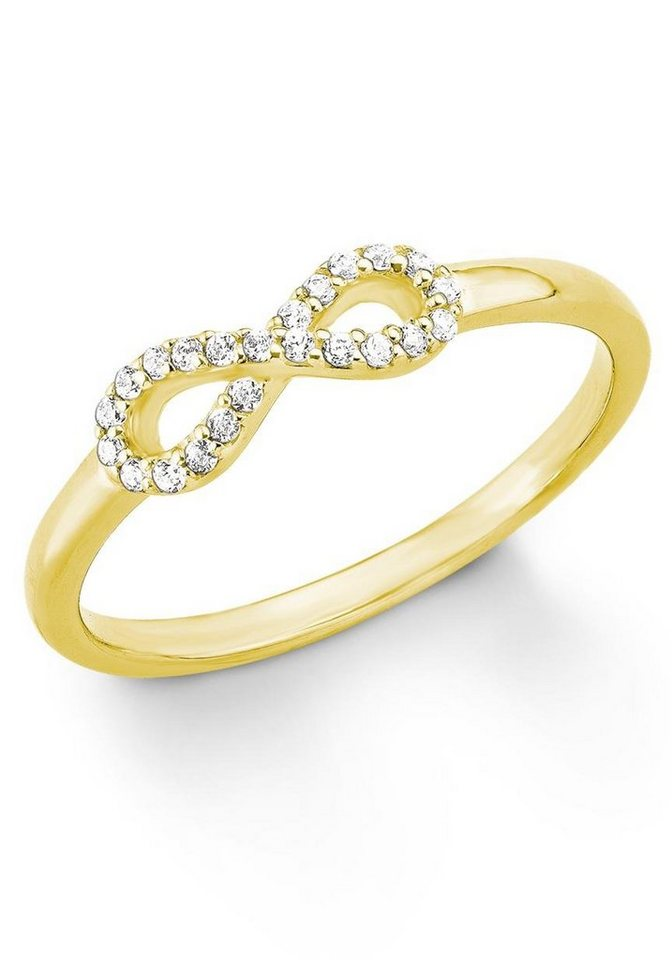 s.Oliver RED LABEL Fingerring »Infinity, 2012478« mit Zirkonia in Silber 925-goldfarben