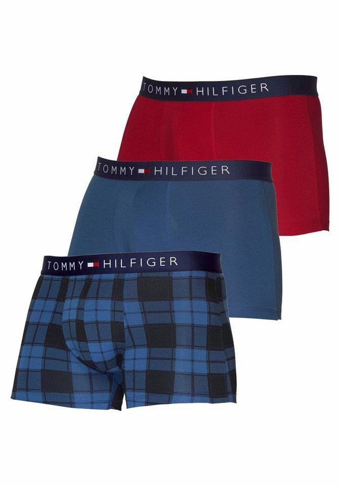 Tommy Hilfiger Hipster (3 Stück) in rot/blau/kariert