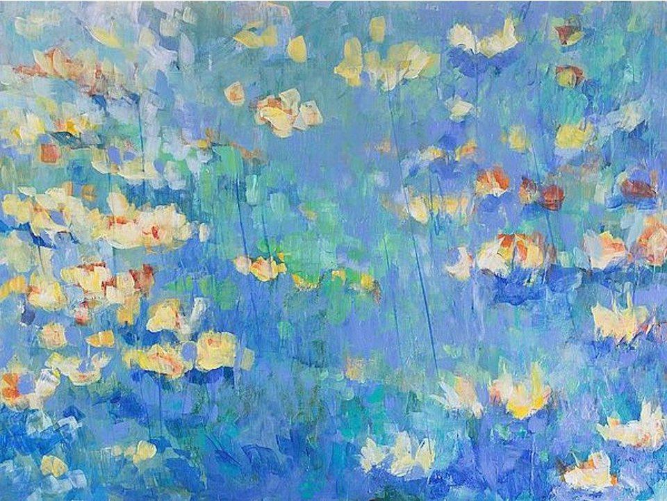 Home affaire, Leinwandbild »T.GONDA/Shenandoah«, 80/60 cm in blau/türkis