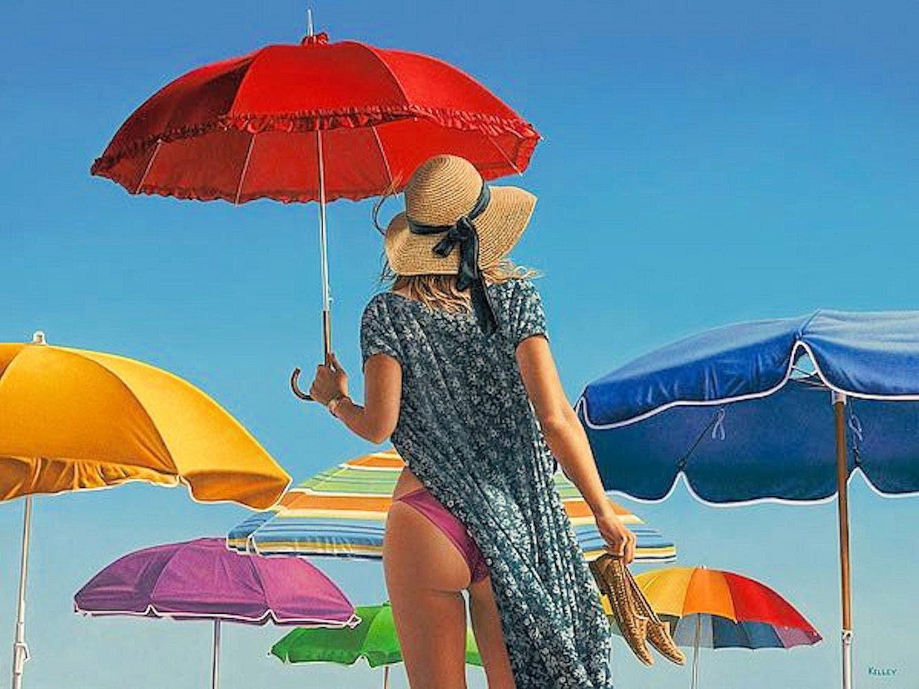 Home affaire, Leinwandbild »PAUL KELLEY/Schirme«, 80/60 cm