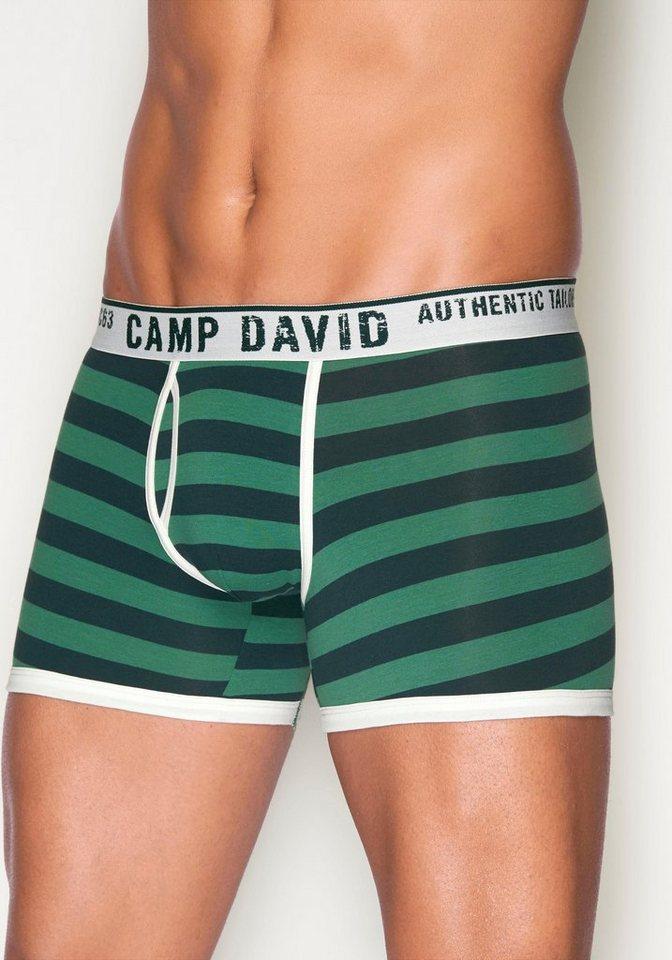 Camp David Boxer in grün gestreift