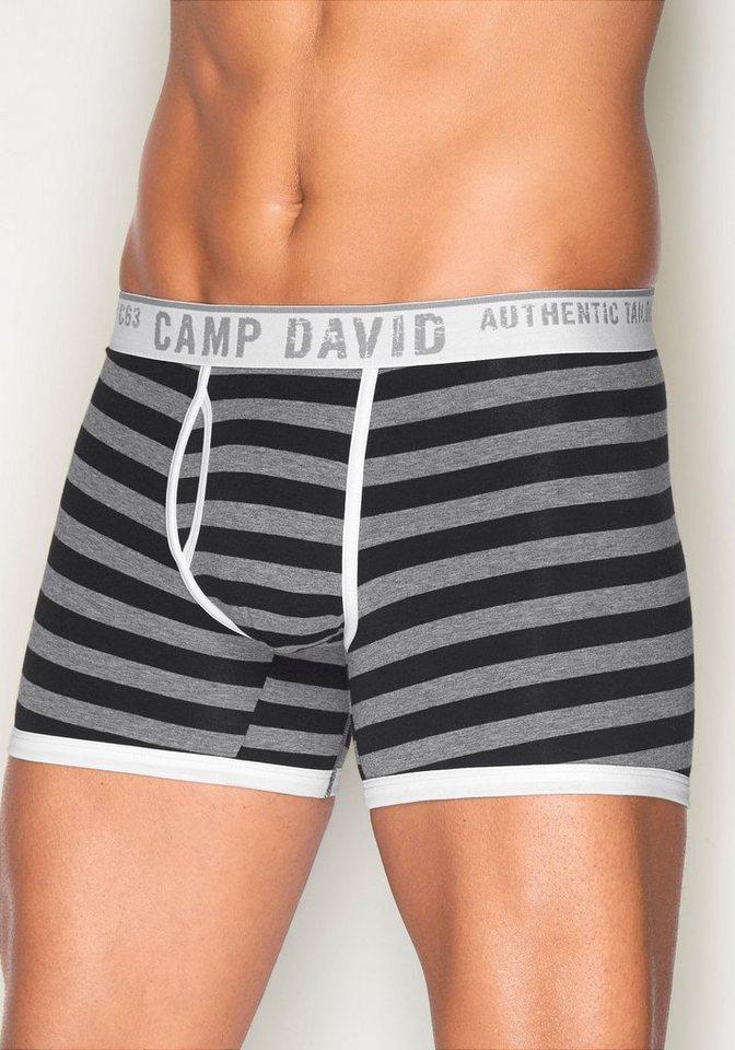 Camp David Boxer in grau/schwarz