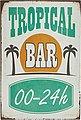 Home affaire Metallschild »Tropical Bar«, Maße (B/H): ca. 30/45 cm, Bild 1