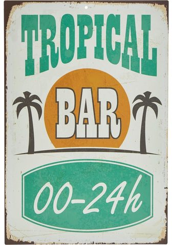 HOME AFFAIRE Metallschild »Tropical Bar«