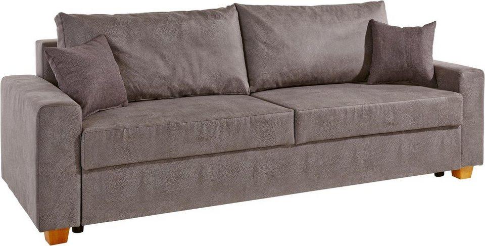 otto schlafsofa federkern inosign schlafsofa inklusive bettkasten und zierkissen with otto. Black Bedroom Furniture Sets. Home Design Ideas