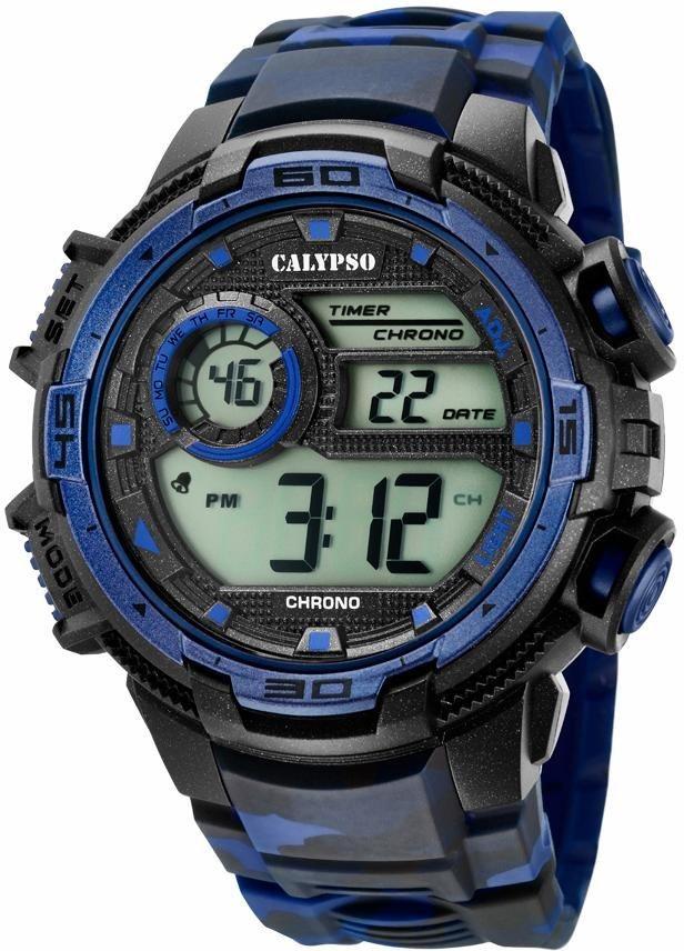 CALYPSO WATCHES Chronograph »K5723/1« in schwarz-blau