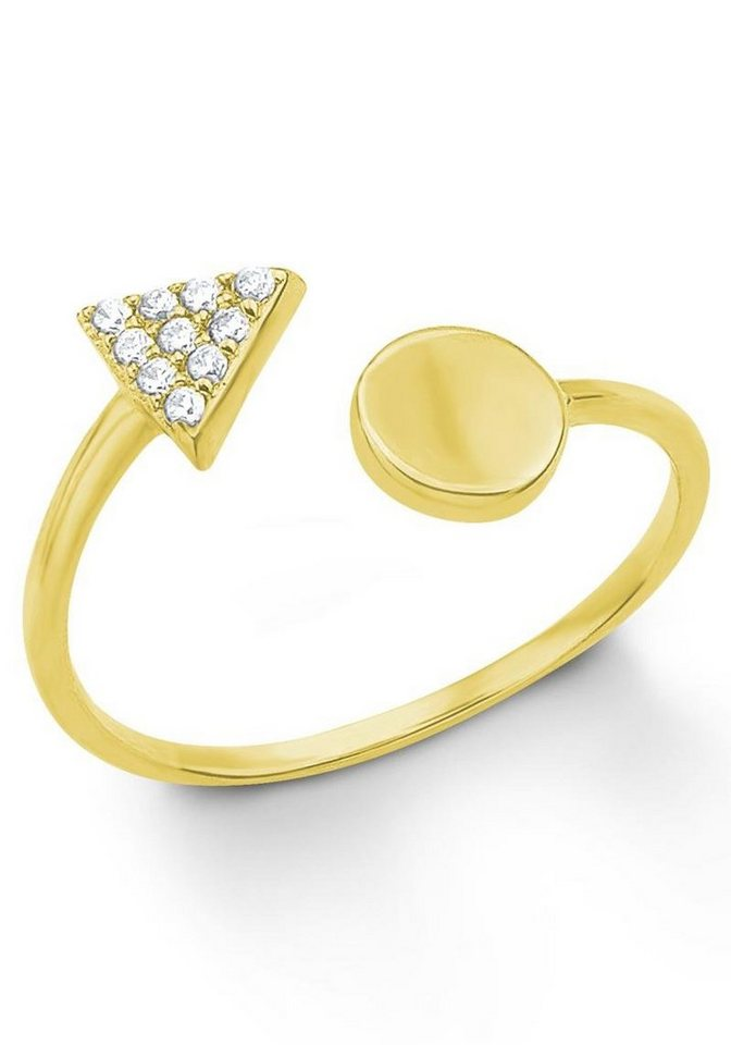 s.Oliver RED LABEL Fingerring »2012662« mit Zirkonia in Silber 925-goldfarben
