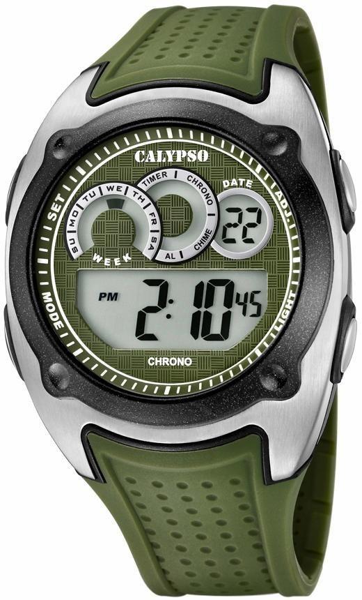 CALYPSO WATCHES Chronograph »K5722/2« in grün