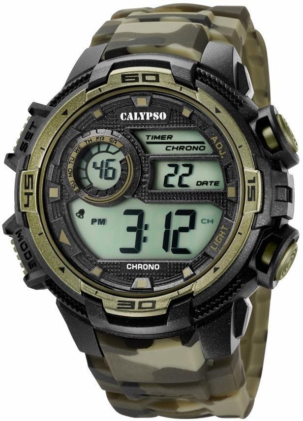CALYPSO WATCHES Chronograph »K5723/6« in olivgrün